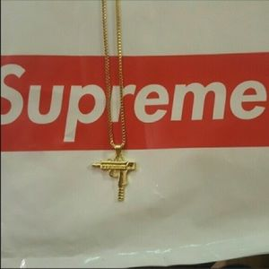 Gold uzi chain new